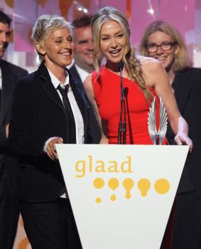 ellen portia glaad awards