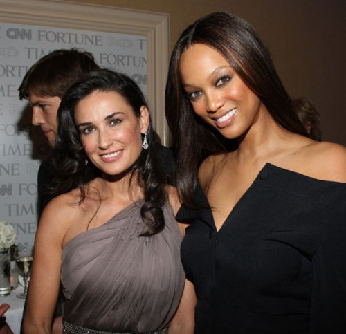 Demi Moore & Tyra Banks Have Very Nice Skin