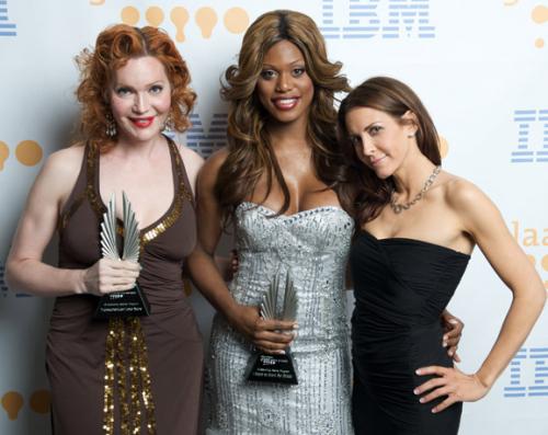 Calpernia Addams, Laverne Cox and QAF's Michelle Clunie