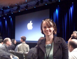 Third row just before start of Apple Keynote. Apple employees + Alexis!