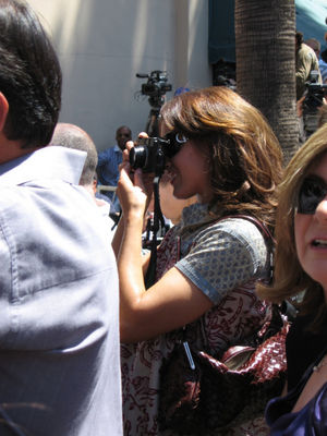 Jennifer Behind the Camera at Marlee Matlin's Hollywood Stars ceremony