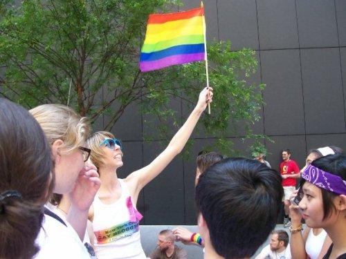 6. Inspirational Pride Flag Dancing