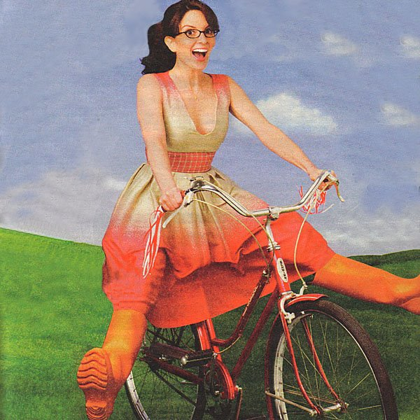 Tina Fey Auto-Straddles Into the Breezy Blue Sky