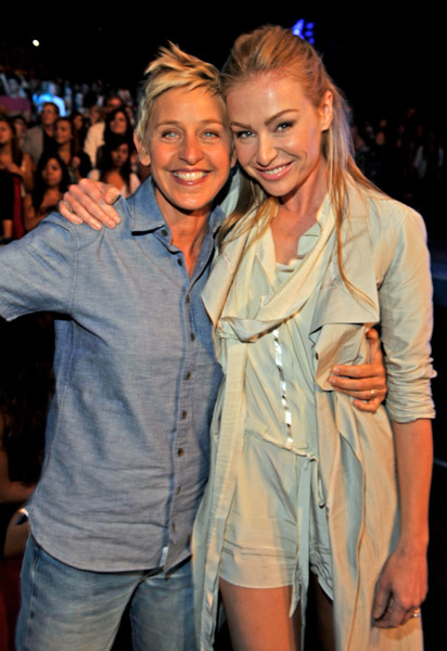 Ellen & Portia at the Nickelodian Kid's Choice Awards