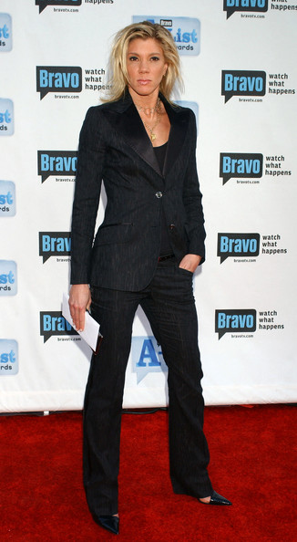 Jackie Warner red carpet black pant suit