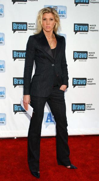 Jackie Warner red carpet black pant suit