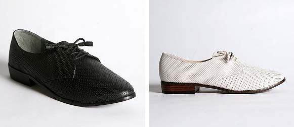 Deena and Ozzy white oxfords