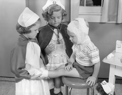 Kids at the doctor