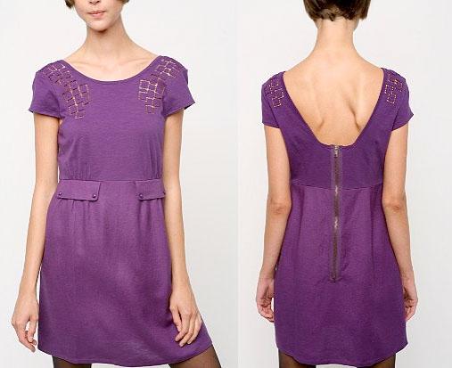 meghas purple dress