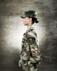 female soldier profile