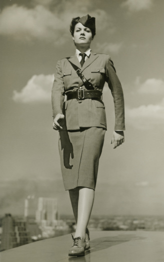 vintage military woman