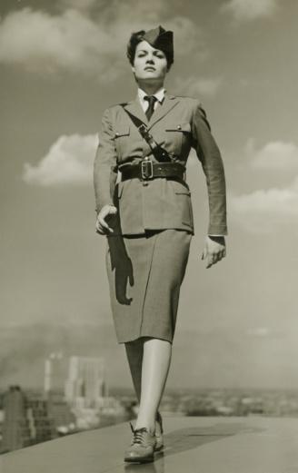 vintage military woman