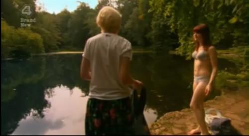 Emily strips lake