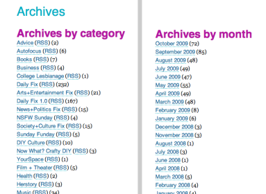 archives by topic