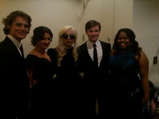 Lea Michelle, Lady Gaga & the Glee Cast at the HRC Dinner