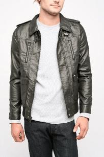 obey faux leather jacket