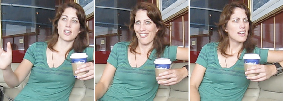 Screenshots from our interview with Erin Foley