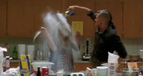 glee food fight