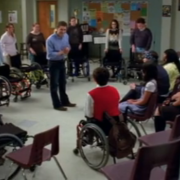 glee wheelchair off