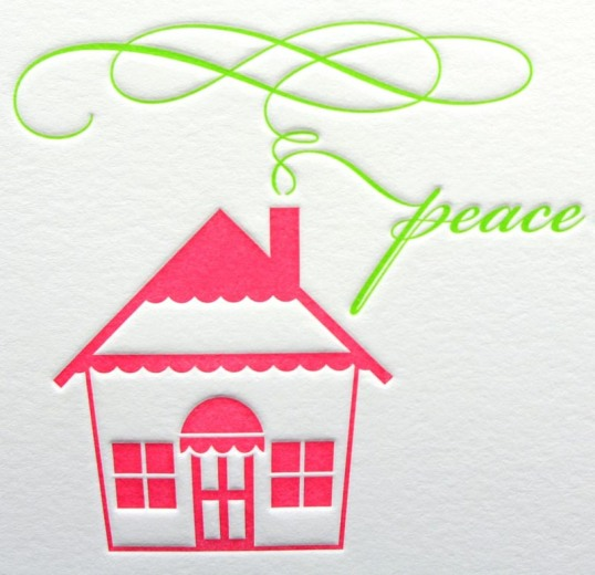 Letterpress House cards