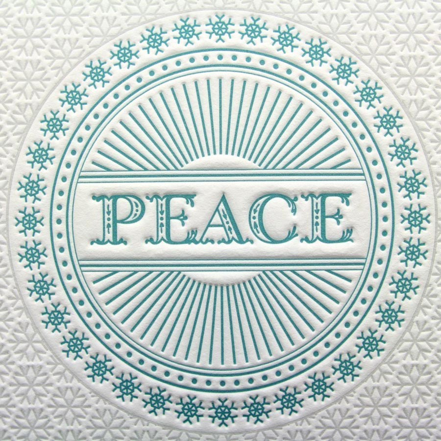 Letterpress PEace cards