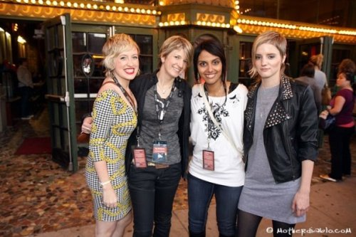 Kristen Kaza, Ky Dickens, Fawzia Mirza and Music Supervisor/Associate Producer Katy Haggis at the Chicago Premiere.