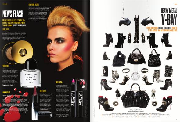 V Magazine spread