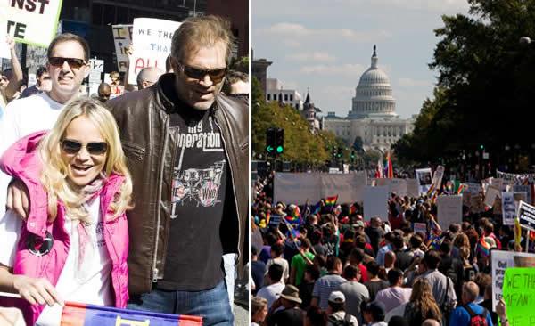 Kristin Chenoweth Natonal Equality March