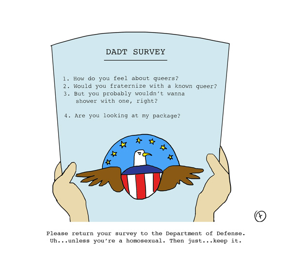 Don't Ask Don't Tell Survey Is Extra Biased Against Gays