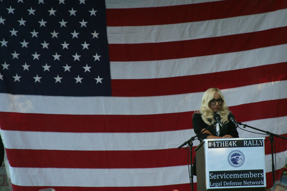 Lady Gaga Don't Ask Don't Tell Rally