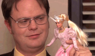 the office barbie unicorn