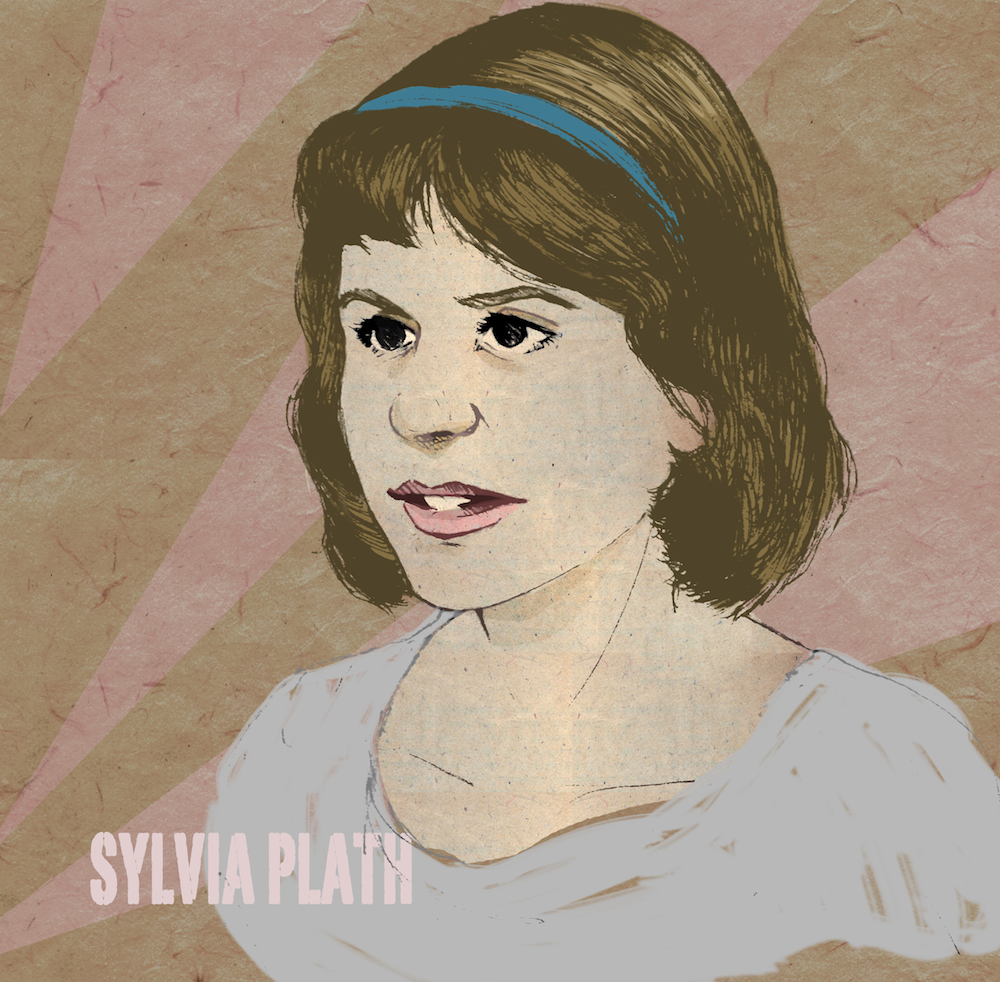 sylvia plath illustration by mishka colombo