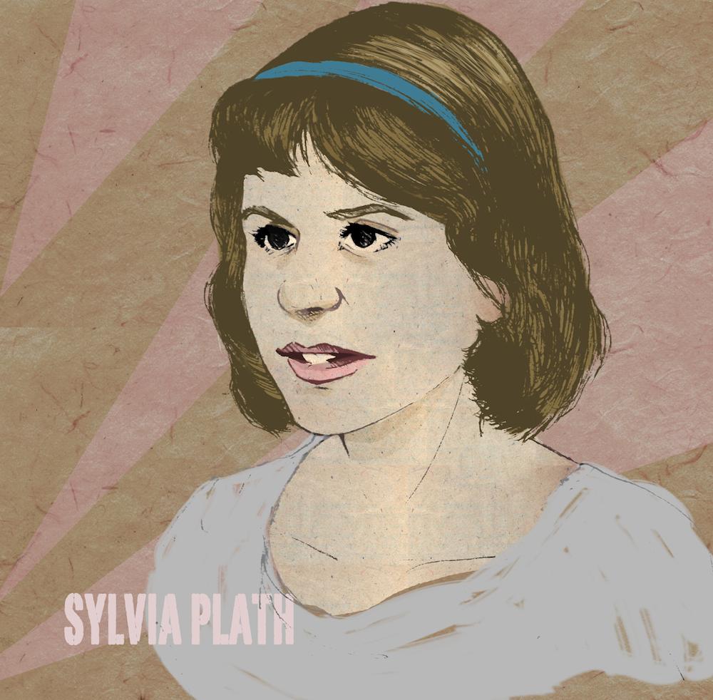 sylvia plath illustration by mishka colombo