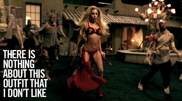 Lady-Gaga-Judas-Recap-red-outfit