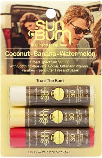 Sun Bum Lip Balm 3-pack