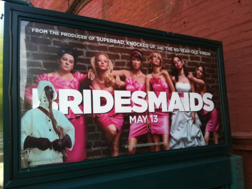 Bio-Hazard Bridesmaids, G Train Advertisement in Greenpoint, BKLYN.