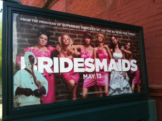 Bio-Hazard Bridesmaids, G Train Advertisement in Greenpoint, BKLYN.