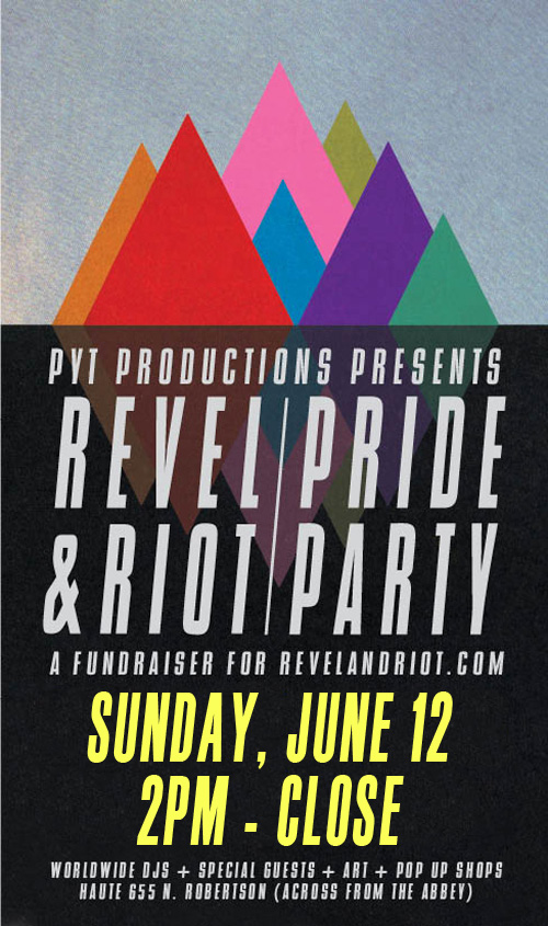 PYT Productions Pride Sunday Revel and Riot