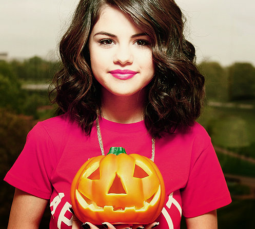 selena gomez is a pumpkin