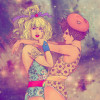 Rainbow Brite and Lala Orange by Fab Ciraolo via suicideblonde