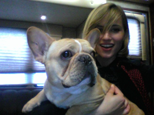 dianna agron and her dog