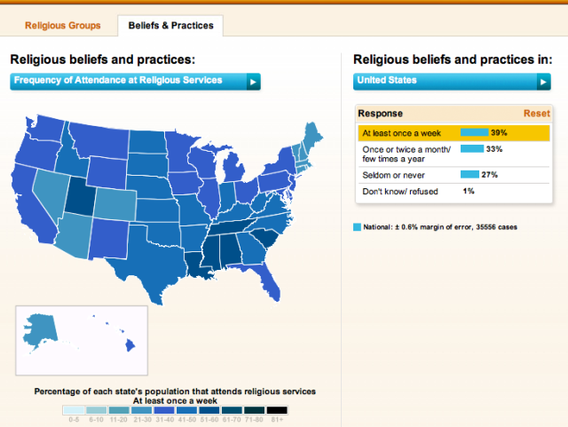 Binge Drinking Map Gallup