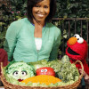 Michelle Obama With Muppets