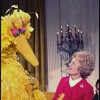 Pat Nixon with Big Bird