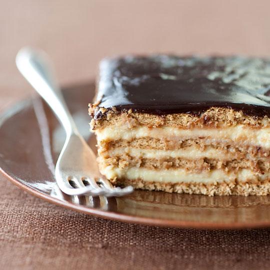 Boston Cream Pie Cake Recipe Graham Crackers