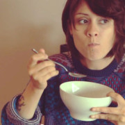 tegan-eating-cereal