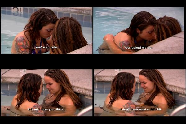 Lesbians Kissing At Party