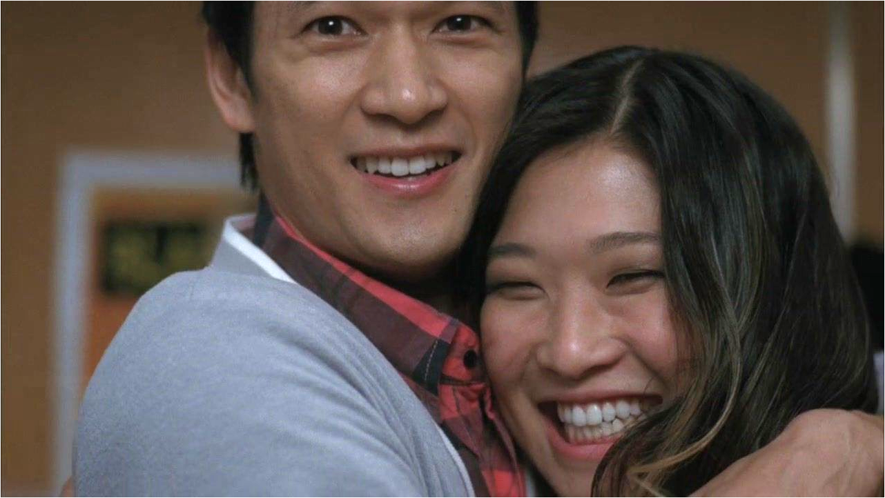 """Glee""'s Ushkowitz and Shum Jr. via http://glee.wikia.com/"