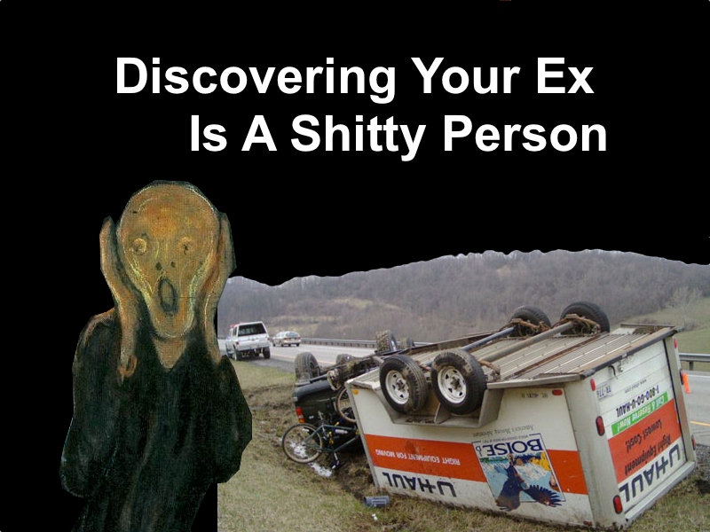 discovering your ex is a shitty person banner