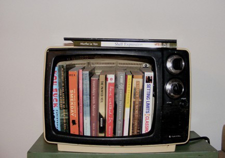 tv bookcase